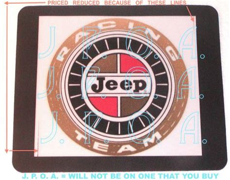 kaiser jeep logo decals emblems detailing for sale find or sell auto