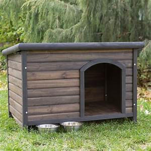 Boomer & George Log Cabin Dog House with FREE Dog Bowls at ...