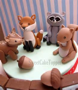 circus cake toppers reserved for ms woodland animal cake topper with
