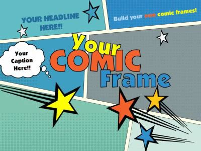 powerpoint comic template  comic frame  powerpoint