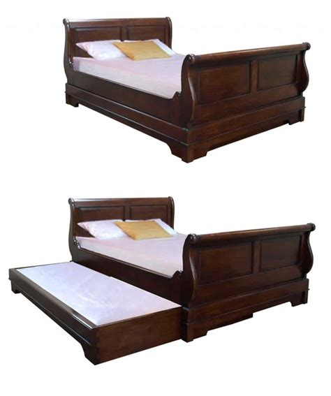 with bed pull out sleigh bed with pull out guest bed akd furniture