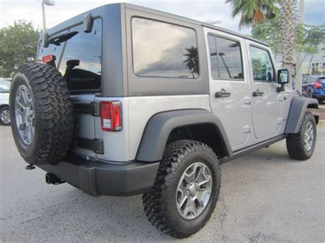 jeep wrangler 4 door silver find used rubicon billett silver 4x4 automatic 4 door hard