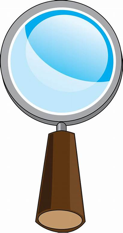 Glass Magnifying Cartoon Clipart Detective Clip Magnify
