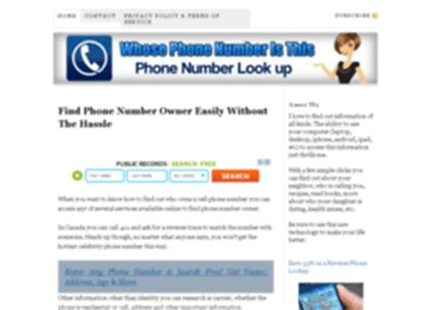 whose phone number does this belong to free whose mobile number is this in australia at website informer