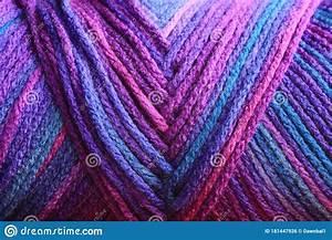 Multi, Colored, Blue, Purple, Macro, Of, A, Spool, Of, Yarn, Stock