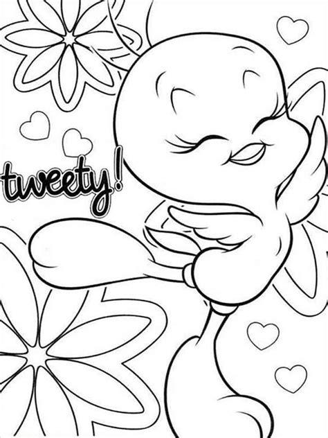 Cute Tweety Bird coloring pages Free Printable Cute