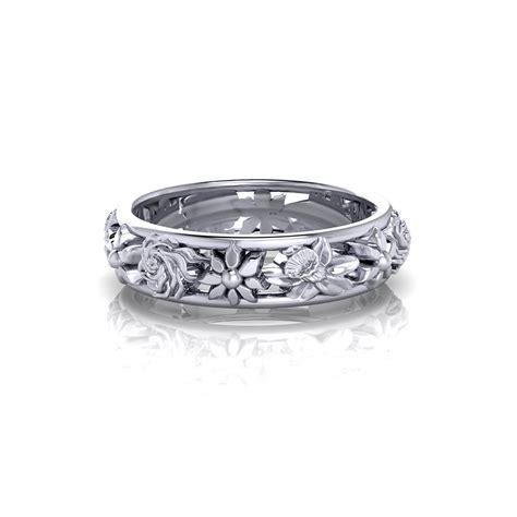 ladies floral wedding ring jewelry designs