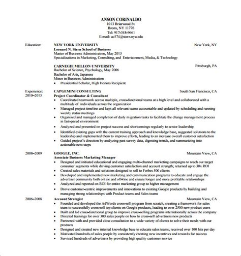marketing analyst resume templates  excel