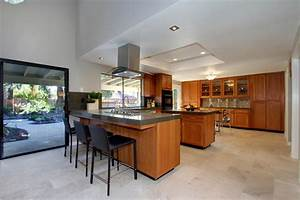 Mid Century Modern Kitchen With Coffered Ceiling Much