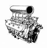 Engine Coloring Pages Parts Blower Diagram Template Radioator sketch template