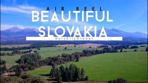beautiful slovakia  drone shots youtube