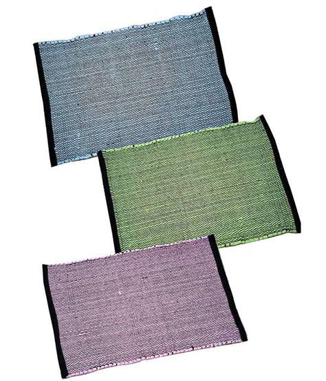 floor mats india homefab india stripes cotton floor mat set of 3 buy homefab india stripes cotton floor mat set