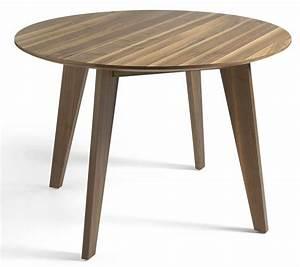 Table à Manger Contemporaine : table ronde contemporaine bois noyer louna ~ Teatrodelosmanantiales.com Idées de Décoration