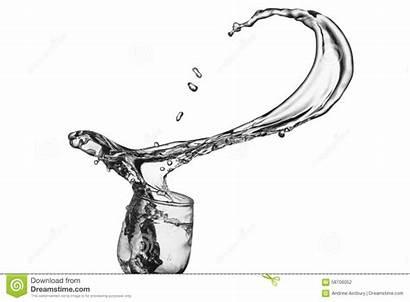 Glass Spilling Liquid Wine Spills Thrown