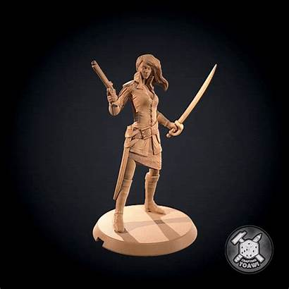 Crusoe Robinson Female Soldier Cursed Downloadfree3d Fourth