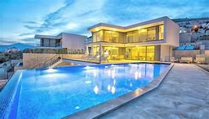 Kalkan'da Özel Yüzme Havuzlu Geniş ve Modern Villa