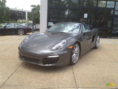 grey porsche boxster agate grey metallic 2013 porsche boxster s exterior photo