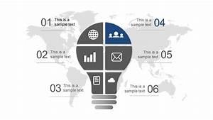 Free Lightbulb Six Segments Powerpoint Diagram