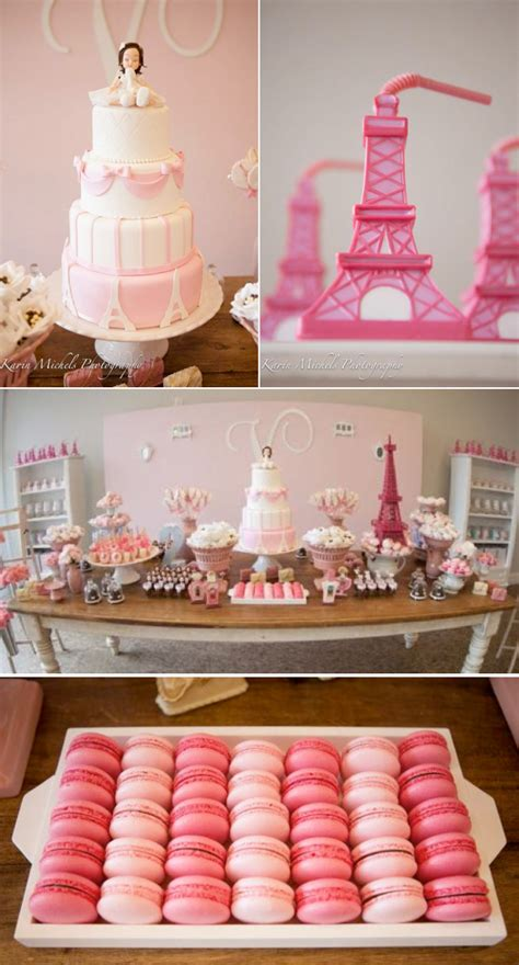 karas party ideas pink paris french girl birthday party