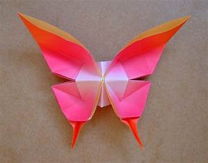 Origami Swallowtail Butterfly Instruction Diagrams