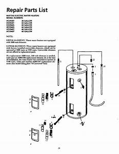 Page 28 Of Maytag Water Heater He2940t User Guide