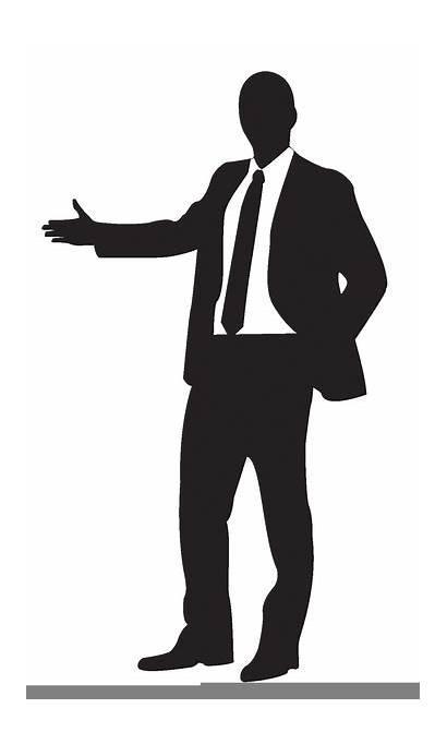 Silhouette Clipart Clip Businessman Suit Female Cliparts