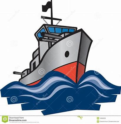 Navy Destroyer Clipart Waves Cutting Royalty Through