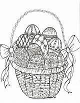 Easter Egg Coloring Faberge Easy Crafts sketch template