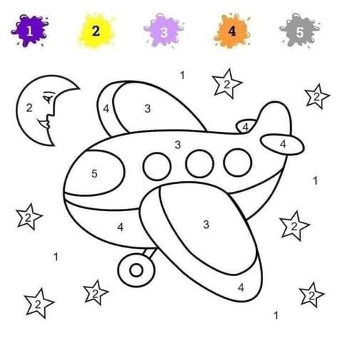 Uzdevumi bērniem: krāsojamās lapas ar cipariņiem - 1188 Padomi