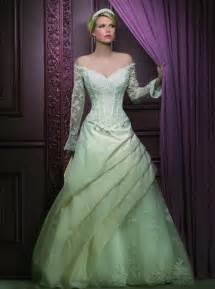 colored wedding dress green colored wedding dress with sleeves sang maestro