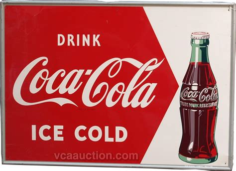 Drink Coca Cola Ice Cold Self Framed Tin Sign