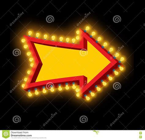 Cartoon Billboard arrow  lamps retro glowing cursor  light bulb 1300 x 1256 · jpeg