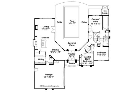 courtyard mediterranean style house plans pool kerala modern  courtyards   middle good