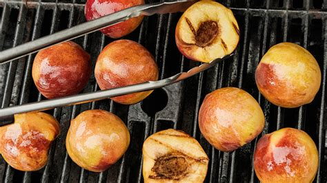 simplest grilled peaches recipe nyt cooking