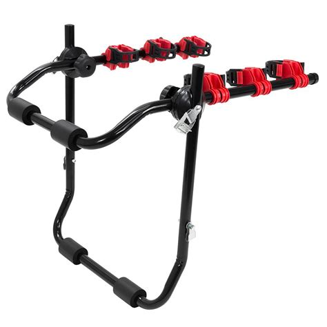 porta mtb auto 3 bike trunk mount hatchback suv or car sport bicycle
