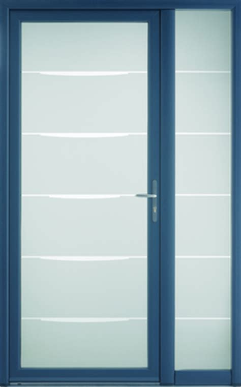 porte d entr 233 e aluminium vitr 233 e fixe vitr 233 e bleu 2700 sabl 233 bel m 215x90 40cm