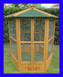 Aviaries Imperial Large Wooden Hexagonal Bird Aviary Cage