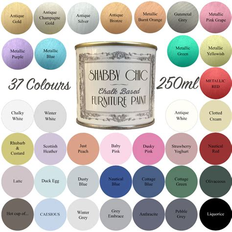 shabby chic paint colours shabby chic chalk paint for furniture 250ml matt finish choice of 37 colours ebay