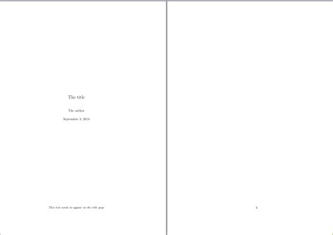 Custom Footer On Title Page Using \maketitle And Book Document Class  Tex  Latex Stack Exchange