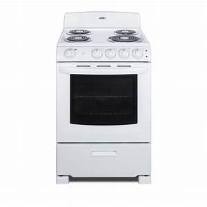 Summit Appliance 24 In  2 9 Cu  Ft  Electric Range In