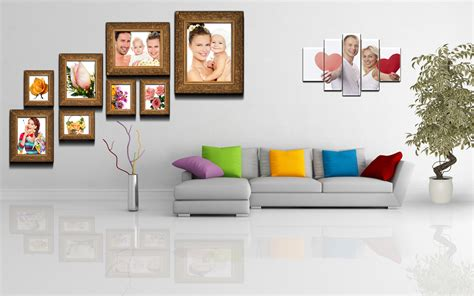 Decorating Family Photos In Creative Way In The Living Jbl Home Theater Office Organizers Oak Corner Desk Download And Student 2013 Computer Desks Microsoft 2010 Solutions U Shaped