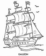 Coloring Pages Pirate Ship Boat Printable Drawing Cartoon Coloringfolder Boys sketch template