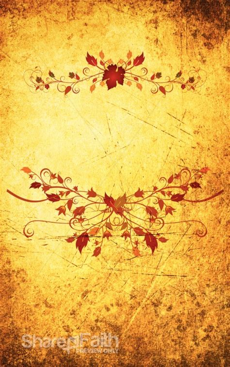 autumn design church bulletin cover harvest fall church