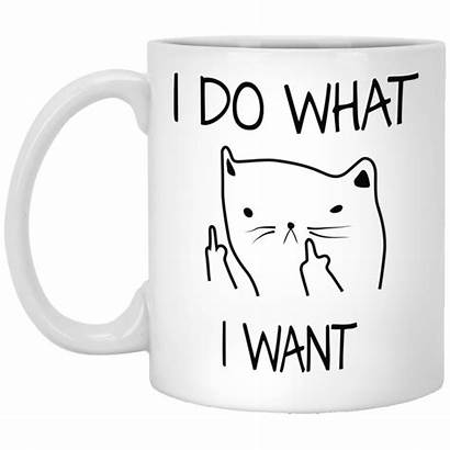 Coffee Mug Cat Want Funny Face Cup