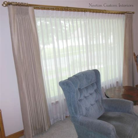 how to hang regular curtains on traverse rod curtain
