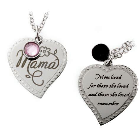 memory  mother mama memorial heart necklace rh