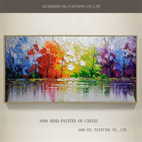 Wholesale High Quality Abstract Trees Oil Painting On
