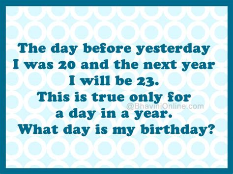 birthday riddle whatsapp riddle what day is my birthday bhavinionline com