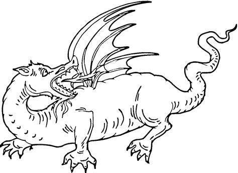 dibujos de dragones terrorificos  imprimir