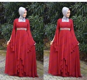 pas cher robe longue de soiree rouge robes a manches With robe longue pas cher pour femme voilée
